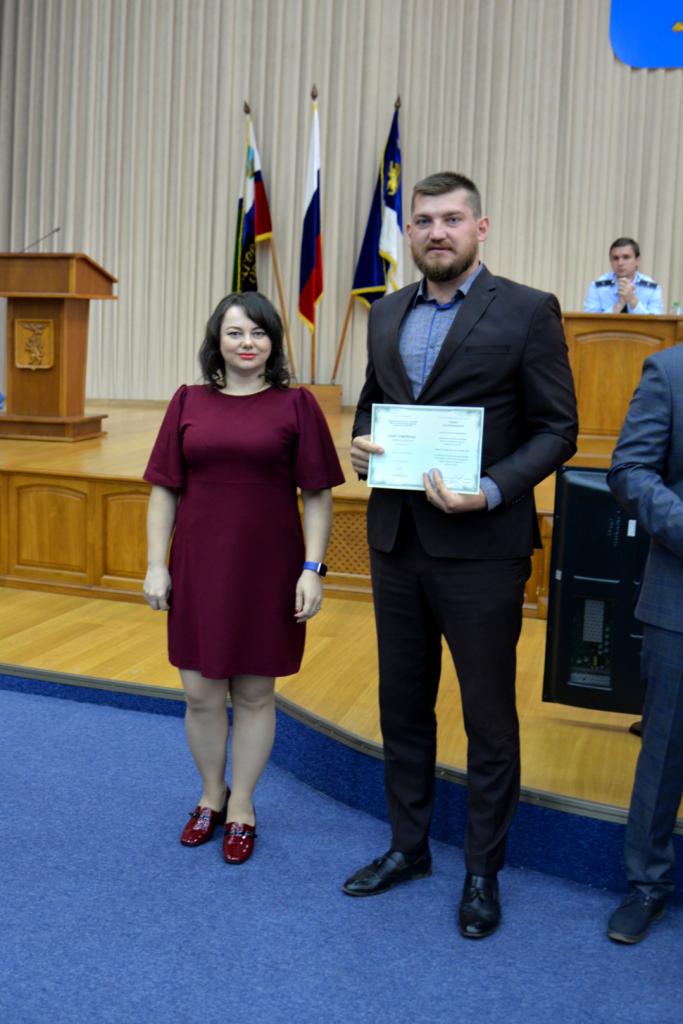 Вручение удостоверений повышения квалификации главам управ администрации города Белгорода