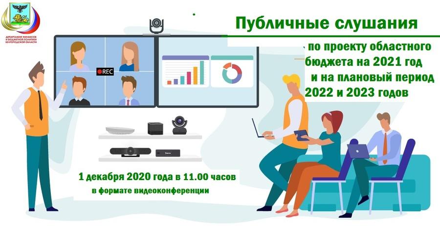 Публичные слушания по проекту областного бюджета на 2021 год и на плановый период 2022 и 2023 годов